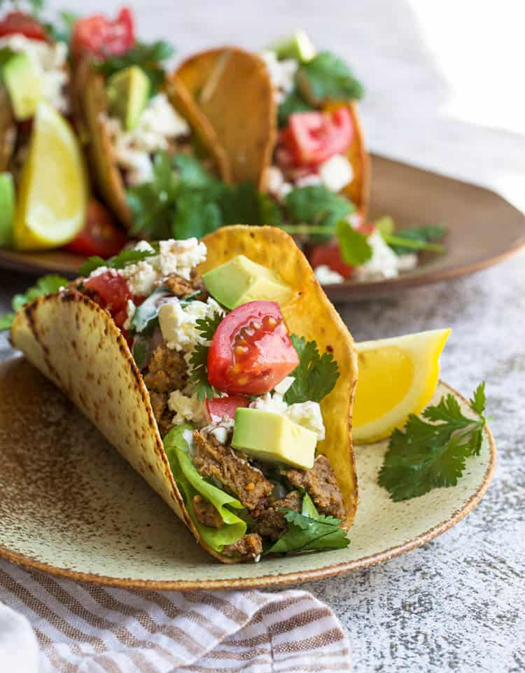 taco on a plate