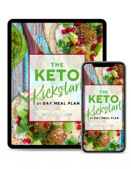 Keto Kickstart eBook cover on an ipad and phone