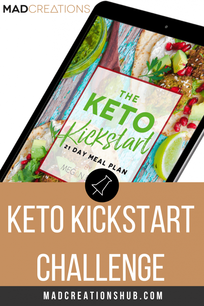The Keto Kickstart Challenge ebook on a black ipad