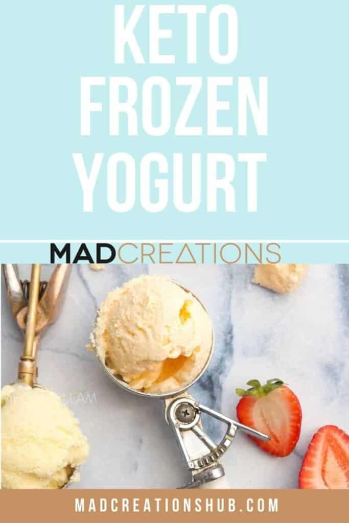 frozen yogurt in an ice cream scoop.