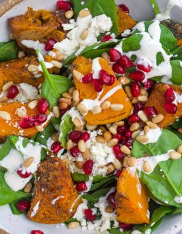 a bowl of pumpkin salad.