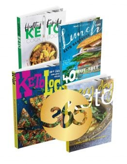 Four cookbook covers with a gold 365 on front.