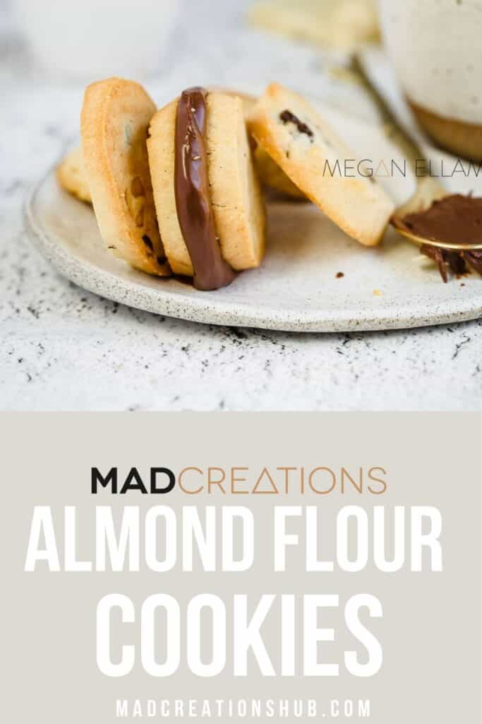 Keto Almond Flour Cookies Pinterest banner.