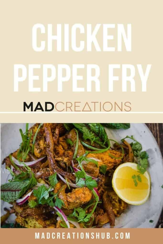 A lemon pepper chicken stir fry on a plate.