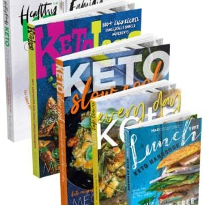 MAD Keto Cookbook Collection covers stacked in a row.