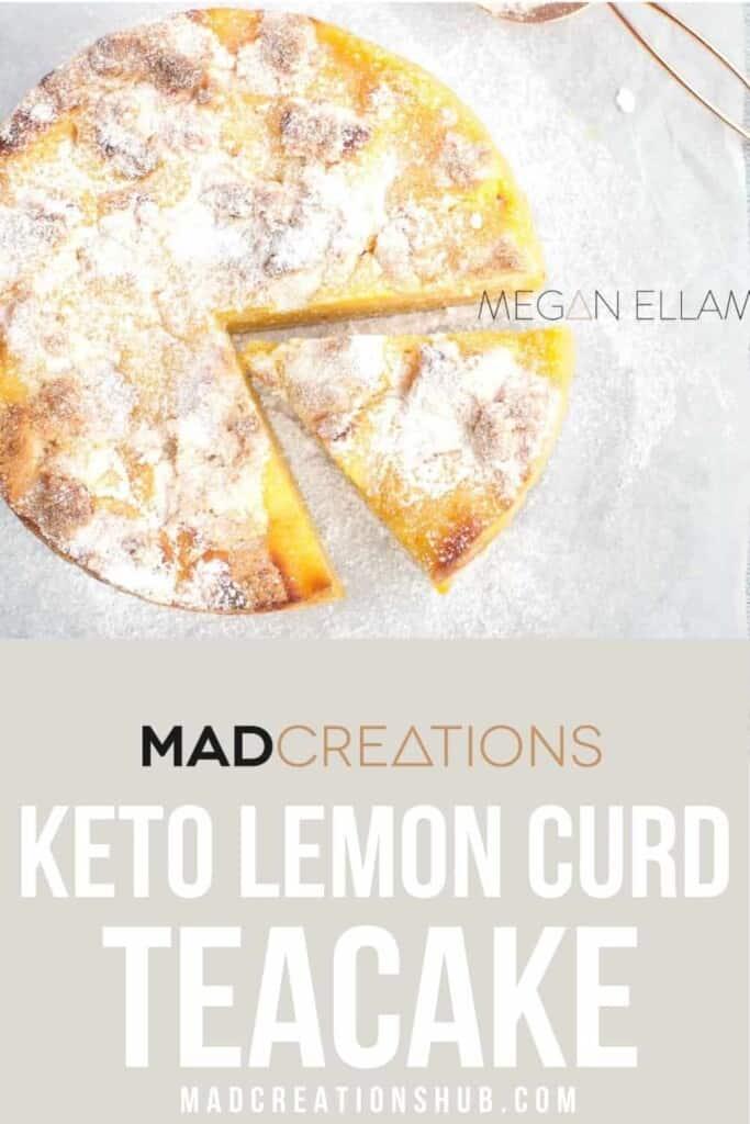 Lemon Curd Cake on a Pinterest Banner.