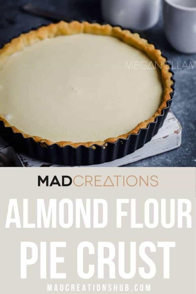 Almond Flour Pie Crust Pinterest Banner.