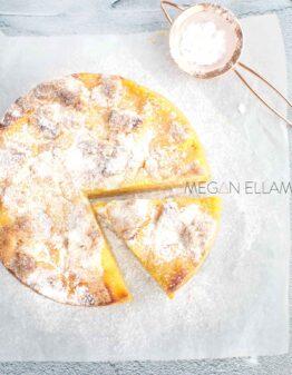 Lemon Cake sprinkled in powdered sweetener.